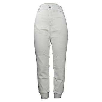 Laurie Felt Women's Petite Jeans Denim Colored Zip Fly Skinny White A375167