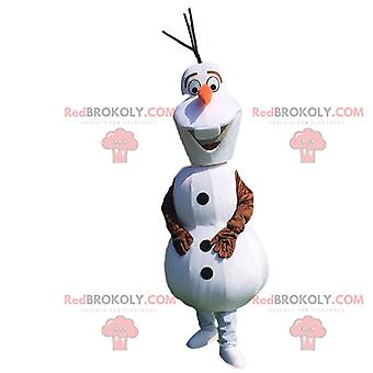 Mascote REDBROKOLY.COM de Olaf, famoso boneco de neve em desenho animado