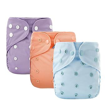 Solid Color Cloth Diaper Cover Waterproof Baby Washable Diapers Cloth Nappies