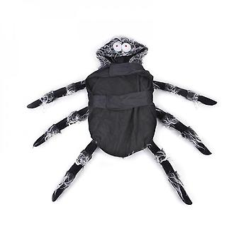 Halloween Pet Spider Clothes Puppy Party Cosplay Costume Hoodies Funny Outfit Dressup For Small Medium Large Dog