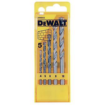 DeWalt Masonry Bit Set 5 Piece