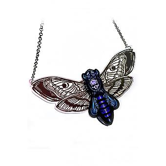 Curiology Layered Pastel Deaths Head Moth Necklace