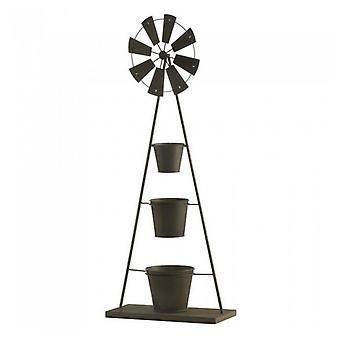 Summerfield Terrace Metall Väderkvarn Plant Stand, Pack of 1