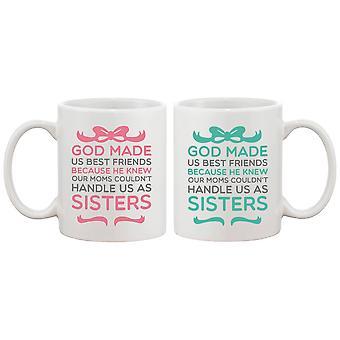 Niedliche Kaffeebecher für beste Freunde - Gott machte uns Best Friends - BFF Geschenk und Zubehör