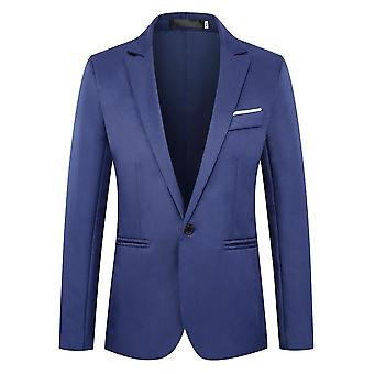Uomo Formale Tuxedo Giacca Dress Suit Office Business Slim Fit Blazer Cappotto