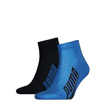 Puma Mens 2 Pack BWT LS Quarter Socks Deportes Casual Accesorios de uso diario