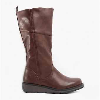 Heavenly Feet Robyn3 Ladies Tall Boots Chocolate