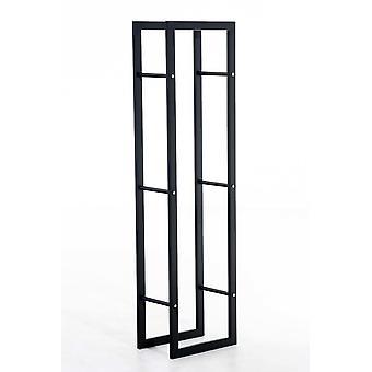Brennholzständer - Modern - Schwarz - 40 cm x 25 cm x 100 cm