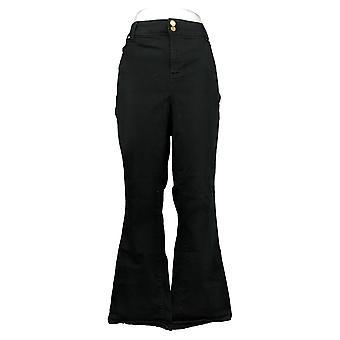 Global Chic By Iman Women's Plus Jeans Luxury Slim Bootcut Black 685831