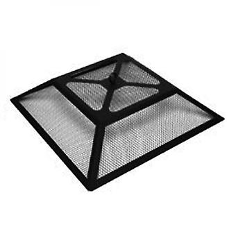 Black Steel Fire Pit With Bbq Grill Burner For Wood & Charcoal And Protective Cover