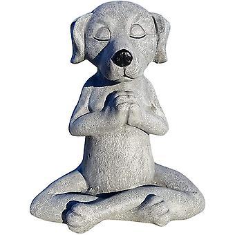 Jardin de pierre Tatue, Ornement de Bouddha de chien, Statue de chien de méditation en plein air, Statue de chien de méditation pour la décoration intérieure, Art en plein air
