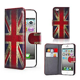 Design Book Leather Case Cover For Apple iPod Touch 5 - Union Jack UK Flag