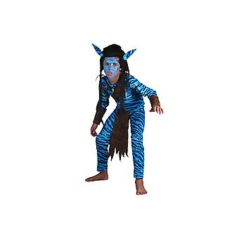 Warrior costume of blue jungle Warrior costume boys