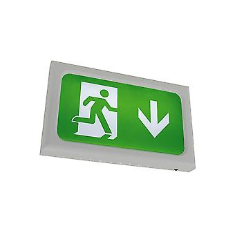 Ansell Encore LED Emergency Exit Box, Silver Grey
