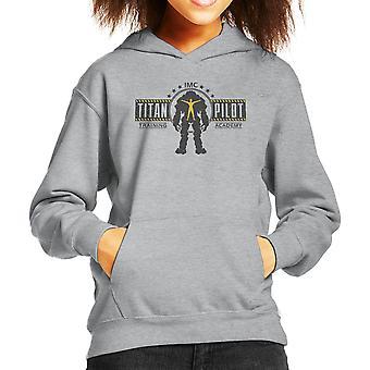 Titan Pilot Training Academy Titanfall Kid's Hooded Sweatshirt