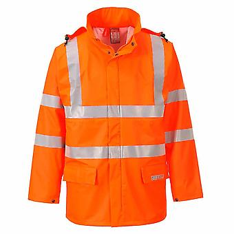 Portwest - Sealtex Flame Resist Safety Workwear Hi-Vis Waterproof Jacket