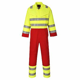 Portwest - Bizflame Fire Resist Hi-Vis Safety Workwear Services Coverall