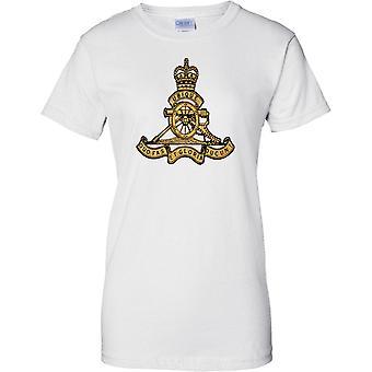Lizenzierte MOD - britische Armee Royal Artillerie Insignia - Damen T Shirt