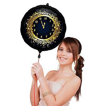 Sylwester nowy rok folia balon 45 cm średnicy
