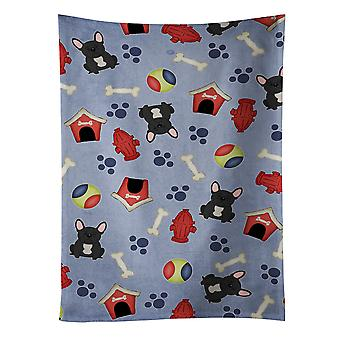 Dog House Collection French Bulldog Black Kitchen Towel