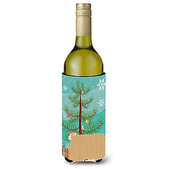 Lincoln Longwool Sheep Christmas Wine Bottle Beverge Insulator Hugger