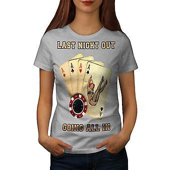 All In Card Bachelor Women GreyT-shirt | Wellcoda