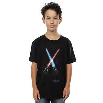 Star Wars rapazes passou pela t-shirt Lightsabres