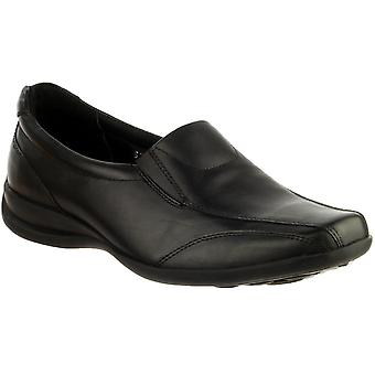 Amblers Ladies Ladies Slip-on Twin tassello in pelle Slip On scarpa nero