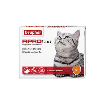 Beaphar FIPROtec Spot On for Cats, 4 X Treatment against Fleas Ticks