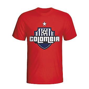 Kolumbia logo krajiny T-shirt (Red)-deti