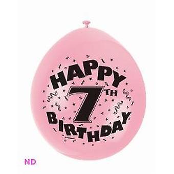 """Ballonnen '7e HAPPY BIRTHDAY' 9"""" Latex ballonnen (10)"""