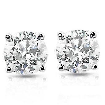 1ct Diamond Studs Platinum
