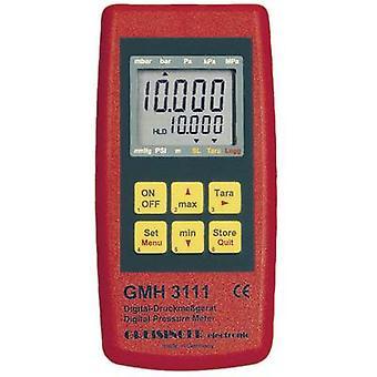 Greisinger GMH 3111 Pressure gauge Air pressure 0.0025 - 1000 bar