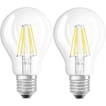 OSRAM LED EWG a (++ - E) E27 Arbitrary 7 W = 60 W ciepły biały (Ø x L) 60 mm x 105 mm szt 2 żarówki.