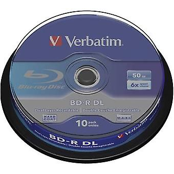 Verbatim 43746 Blank Blu-ray BD-R DL 50 GB 10 pc(s) Spindle