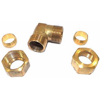 "Big A Service Line 3-165920 Brass Pipe, 90 deg Street Elbow Fitting 3/4"" x 3/4"""