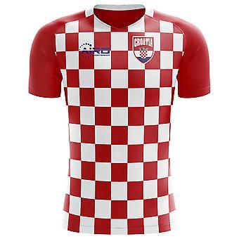 2018-2019 كرواتيا العلم مفهوم كرة القدم قميص