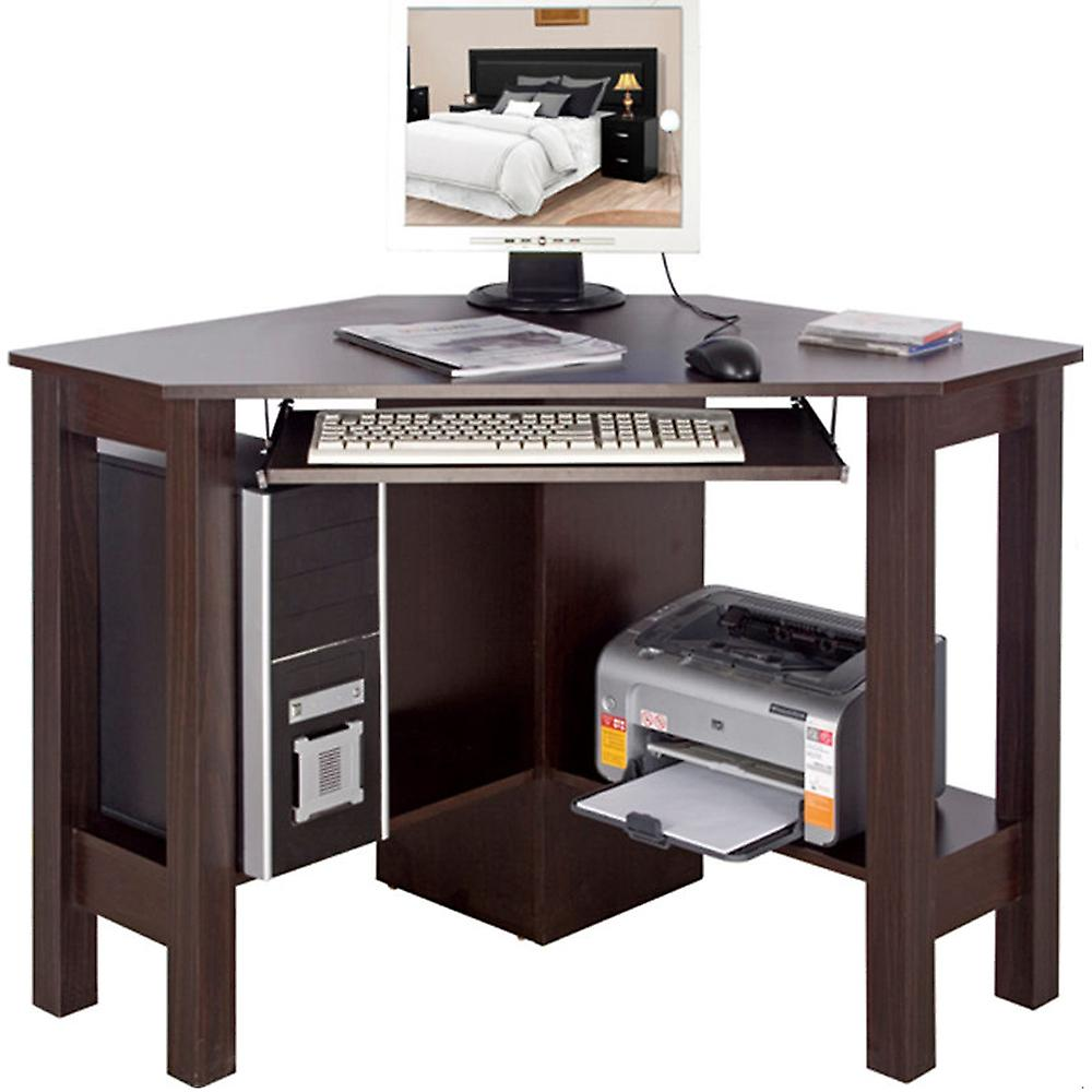 New Horner - Hoek Bureau / Computer Workstation - Walnut | Fruugo &YY93