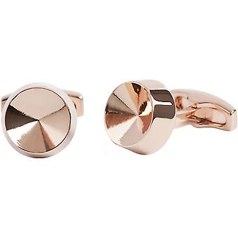 Simon Carter Dimple Cone Cufflinks - Rose Gold