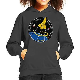 NASA STS 120 Shuttle Mission Bilder Patch Kid das Sweatshirt mit Kapuze