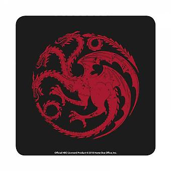 Game Of Thrones Coaster Targaryen House Sigil new Official Black