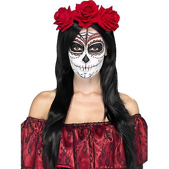 Smiffy's Day Of The Dead Roses On Headband