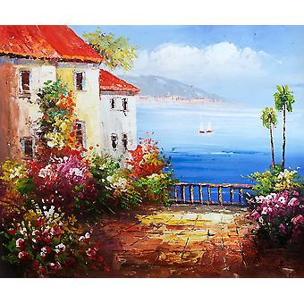 Mediterranean, oil painting on canvas, 50x60 cm