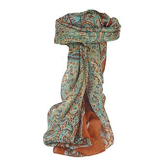 Mulberry Silk Traditional Square Scarf Zorn Copper by Pashmina & Silk