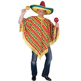 Poncho mexicano - impresión de Chile.