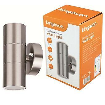 Kingavon Dual Illumination Wall Light IP44 GU10 Stainless Steel