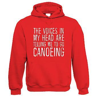 Stemmen in mijn hoofd Go Kanoën, Funny Hoodie - Gift Him Her