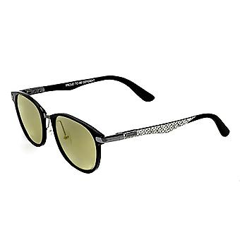 Breed Cetus Aluminium and Carbon Fiber Polarized Sunglasses - Black/Gold