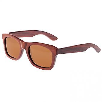 Earth Wood Panama Polarized Sunglasses - Red Rosewood/Black