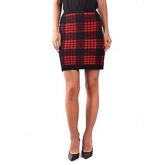Balmain Red Wool Skirt